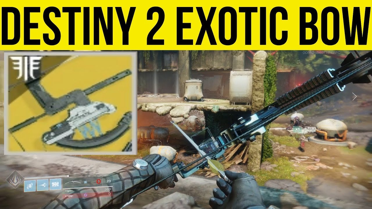 Destiny 2 Forsaken Exotic Bow Trinity Ghoul First Look Gameplay
