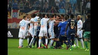 (Ligue 1) Bagarre en match de Marseille - Bastia, 2017 | 720p HD