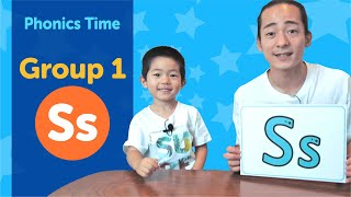 Group 1: Ss | Phonics Time with Masa and Junya | Made by Red Cat Reading