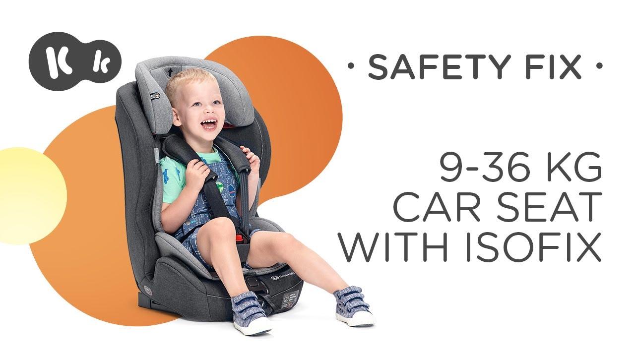 Kinderkraft SAFETYFIX ISOFIX Kindersitz Autokindersitz 9 bis 36 kg gruppe 1 2 3