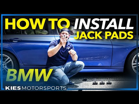 Install BMW Jack Pads on your F30, F10, F25, F15, F3x, etc.  (Works on most BMWs!)