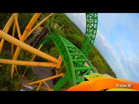 [4K] Cheetah Hunt High Speed Roller Coaster POV - Busch Gardens Tampa