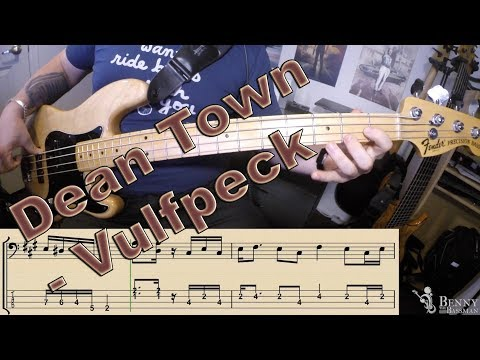 Vulfpeck - Dean Town [BASS COVER] - with notation and tabs