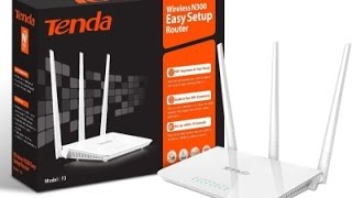 How to Setup Tenda F3 wireless N300 router easily