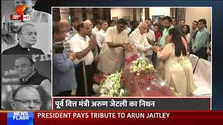 Lal Krishna Advani pays his last respect to mortal Arun Jaitley's body