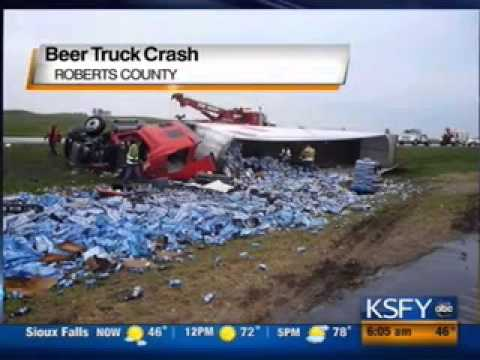 Beer Truck Overturns on South Dakota Highway | Ridiculous News