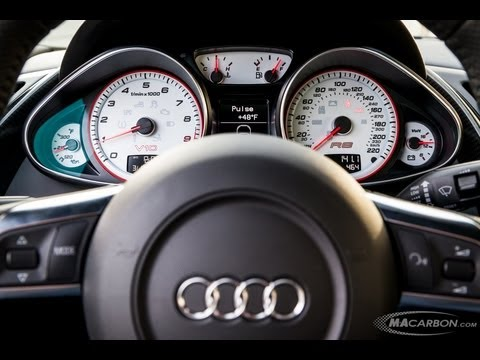 Audi R8 R8GT Steering Wheel Installation by MAcarbon