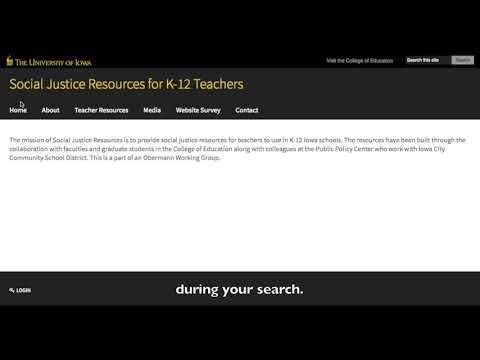 Social Justice Resources Website Tutorial - University of Iowa