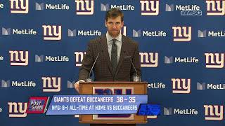 Eli Maning: There's Some Excitement Going Around Here | New York Giants Post Game