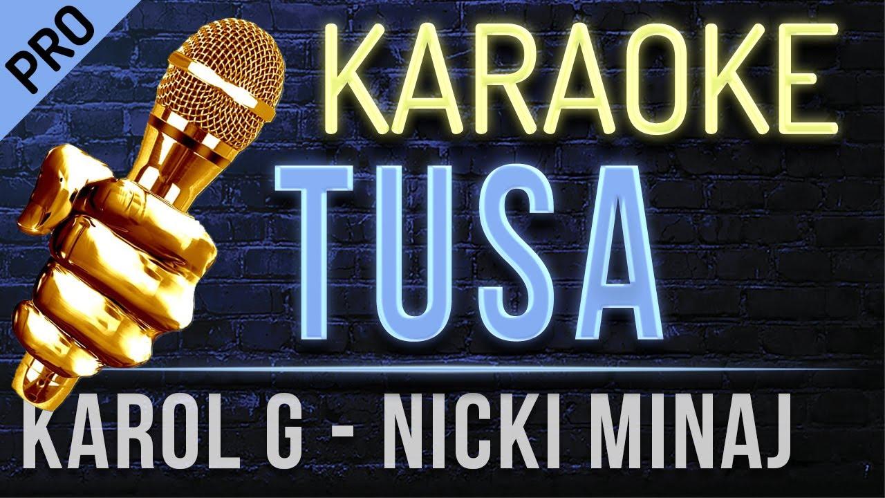 Karaoke Tusa Karol G Nicki Minaj Karaoke Instrumental Youtube