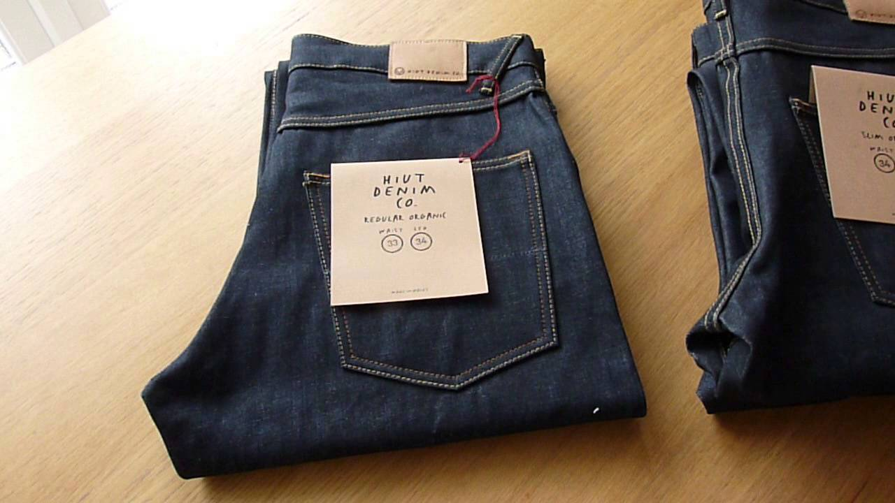 HIUT DENIM Co. Work / Hack Jeans (raw denim) - FIRST IMPRESSIONS - YouTube
