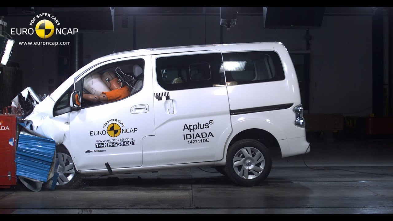 nissan e nv200 evalia crash test euro ncap youtube. Black Bedroom Furniture Sets. Home Design Ideas