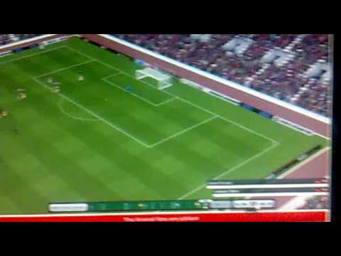David Villa best goal ever football manager 2010