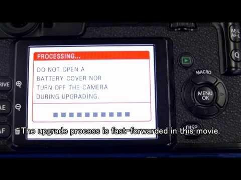 Firmware upgrade procedure for Fujifilm...