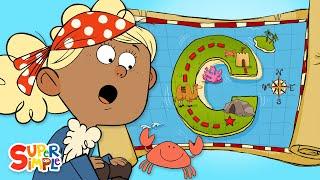 "Crazy-Cool Adventure on ""C"" Island | Captain Seasalt And The ABC Pirates | Educational Cartoon"