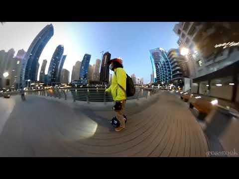 EUC Solo Ride - Dubai Marina UAE