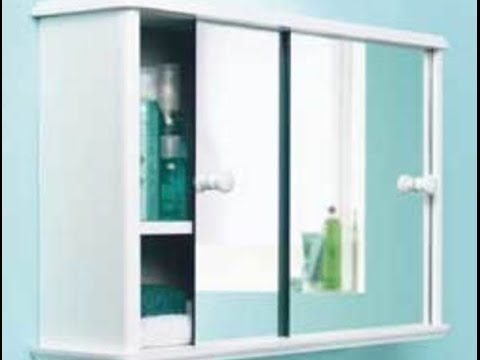 Sliding Cabinet Doors For Bathroom sliding door bathroom cabinet - youtube