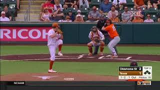 Oklahoma State vs Texas Baseball Highlights - March 25