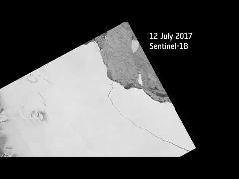 Iceberg A68 breaks from Larsen C ice shelf, Antarctica