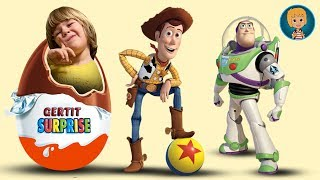 Gertit Plays with New Toy Story 3 Surprise Toys - Let's Open Kinder Surprise Eggs and do ToyReview thumbnail