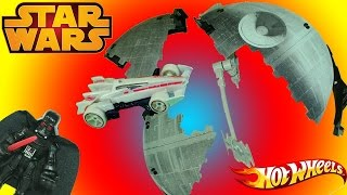 Star Wars Hot Wheels Death Star Battle Blast Track Set! Darth Vader Is in Trouble!