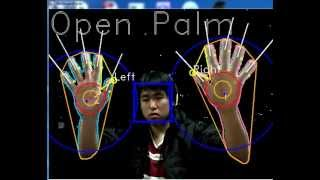 OpenCV Hand tracking Fingers tracking + static gesture recognition (K-curvature convexity defects)