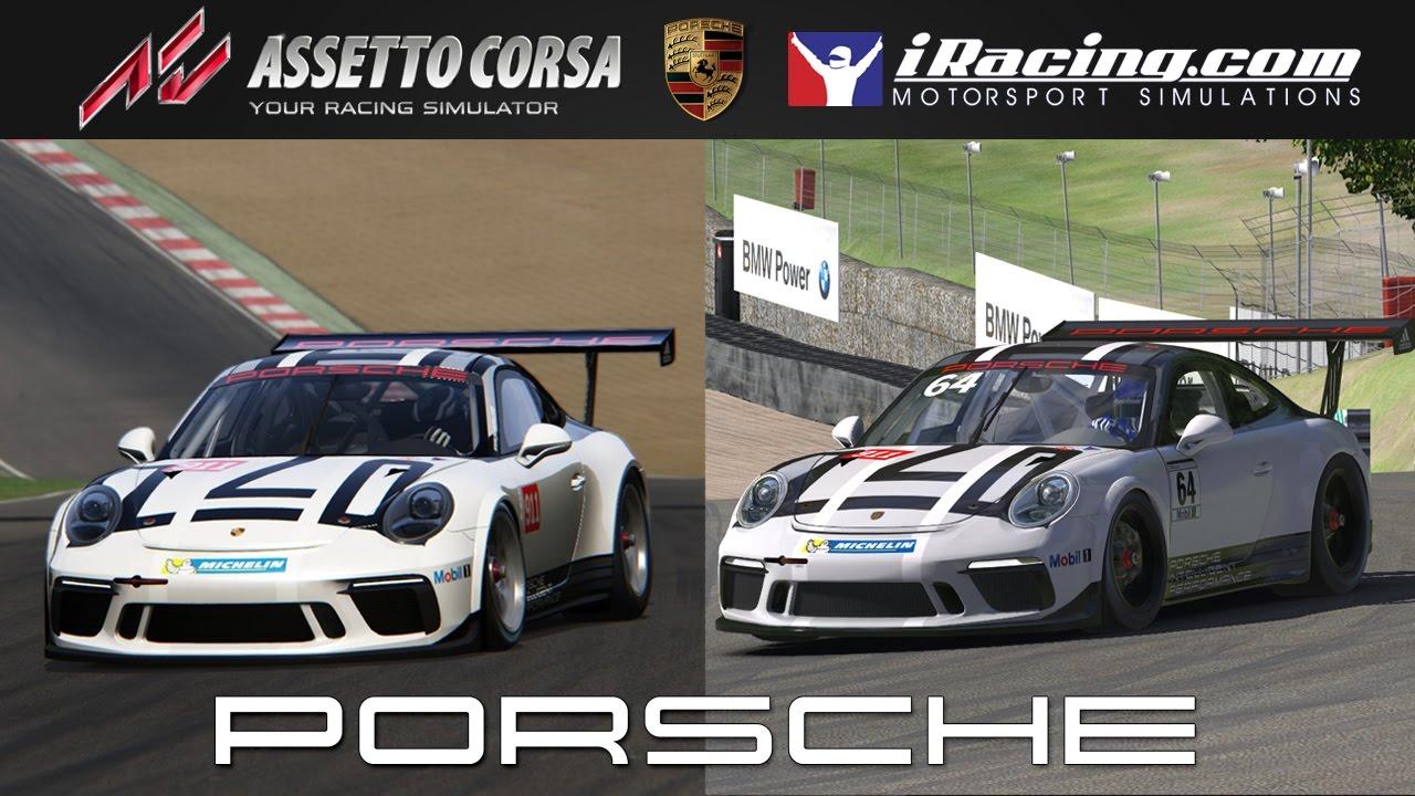 assetto corsa vs iracing porsche 911 gt3 cup 2017 comparison youtube. Black Bedroom Furniture Sets. Home Design Ideas