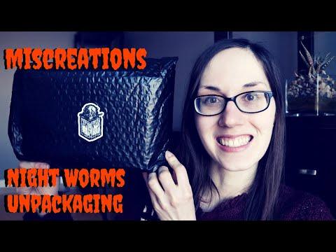 Night Worms Horror Book Unpackaging | Miscreations | Jan 2020 | #horrorbooks #nightworms