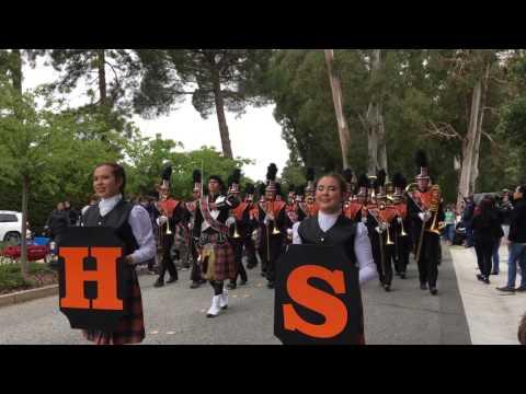 2017 Hillsborough Memorial Day Parade San Mateo High School Marching Band