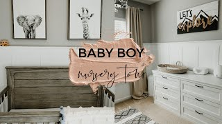 BABY BOY NURSERY TOUR & HOW I ORGANIZE | MOM WITH ME EPISODE 2