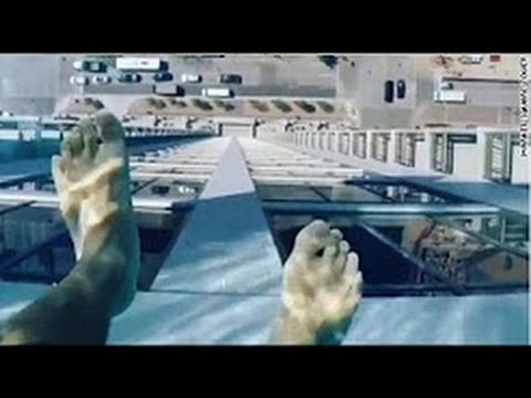 Scary Rooftop Glass Swimming Pool On 42nd Floor
