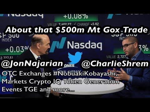 About that Mt Gox trustee trade: @CharlieShrem at @NASDAQ with @jonnajarian