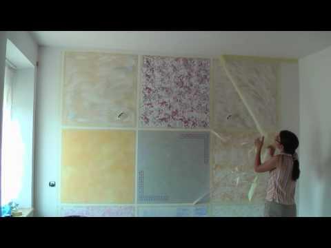 Kreative Wandgestaltung - Wischtechnik, Lasurtechnik - Wand streichen - Farbe - Schablone