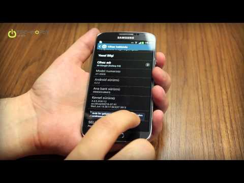 Galaxy S4 Geliştirici Seçenekleri Etkinleştirme