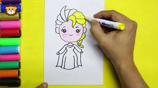 Como Dibujar- Elsa Frozen  Kawaii - Dibujos para niños - Draw for Kids - Discovery Color Kids