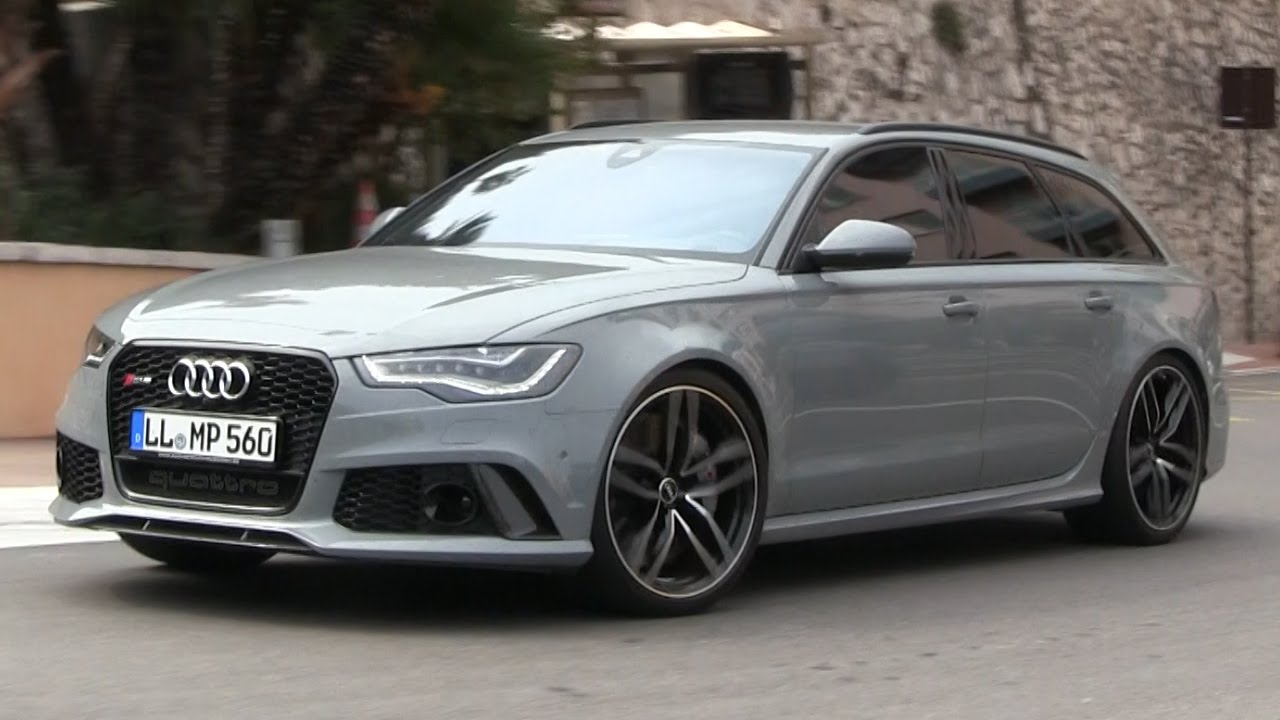 Nardo Grey Audi Rs6 C7 Avant In Monaco Fast Driving