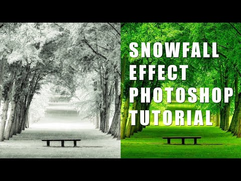Photoshop tutorial | How to create snow fall effect | Photoshop CC