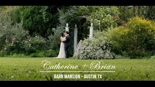 Catherine + Brian's Barr Mansion Wedding Austin TX Wedding Videographer(Filmed by Austin TX wedding videography company, The Wedding Theater, Cat and Brian's Barr Mansion Wedding was an amazing evening full of love and joy., 2014-06-17T18:51:52.000Z)