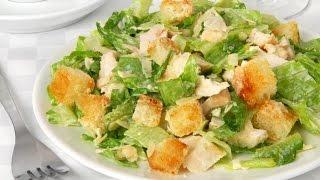 Салат Цезарь. Caesar salad.