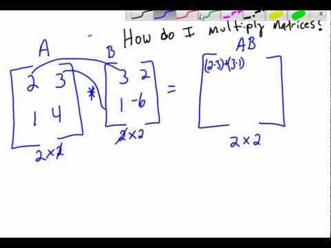 how to multiply 2x2 matrices - YouTube
