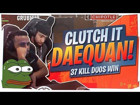 CLUTCH IT DAEQUAN! 37 KILL DUO WIN (Fortnite BR Full Game)
