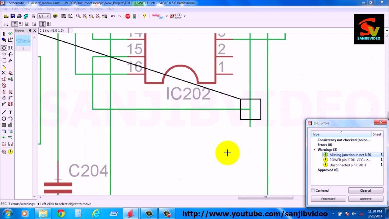 EAGLE # 6 of 12 : CHECK / FIX ERC ERROR : How To Design Circuit ...
