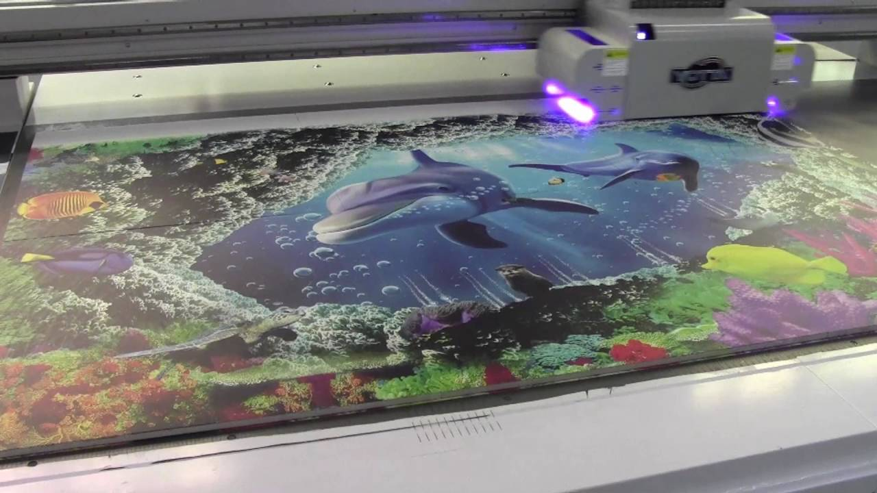 D Floor Printer Print Ceramic Tiles Video By Yotta UV Flatbed - 3d printed floor tiles