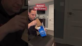 Appearing Snacks Trick (Behind the scenes) #shorts