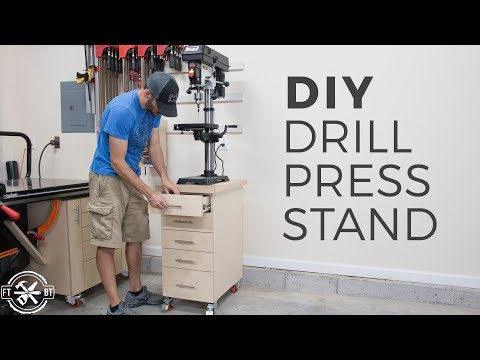 DIY Drill Press Stand with Storage | How to Build