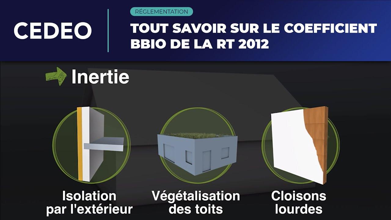 Exigences RT 2012 : le coefficient Bbio