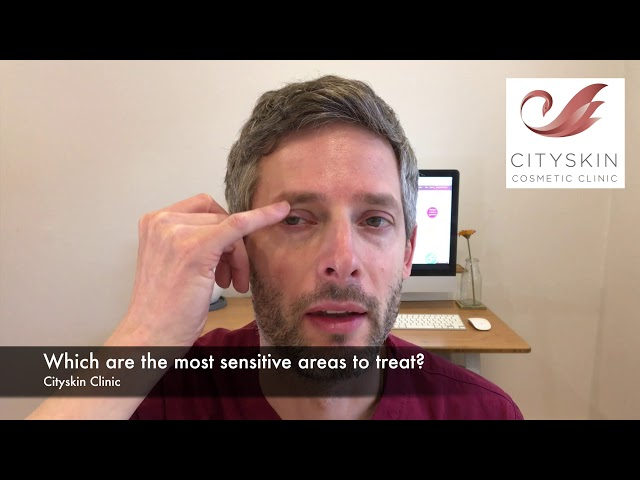 Which are the most sensitive areas to treat?