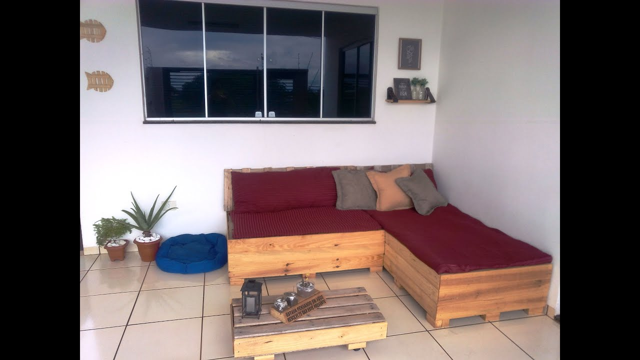 Diy Sofa De Pallets Para Varanda Parte 2 Youtube