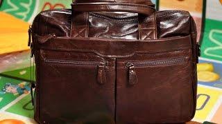 Обзор мужской кожаной сумки JMD Vintage из Китая. Распаковка от Ladystuff.biz