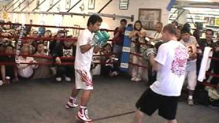 Manny Pacquaio on mitts!  - Art of Boxing in HD - The Baddest Boxing Channel ....Ever!!!